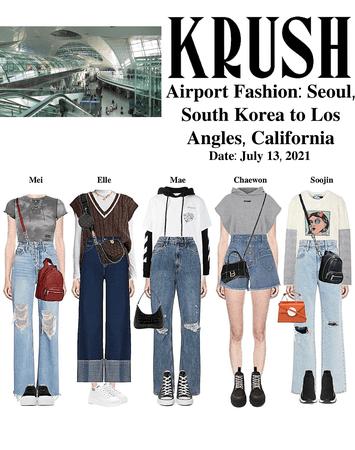 KRUSH Airport Fashion: Seoul to LA