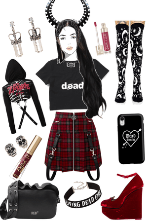 red or dead 💀 xox