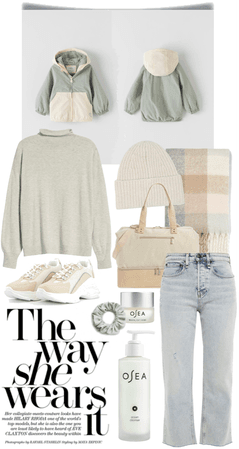 light colour winter outfit