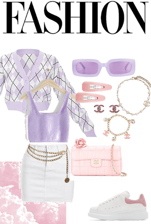 Pastel purple and pink outfit