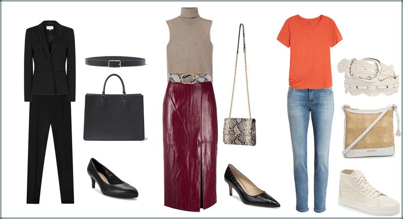 Belt, Bag and Shoes