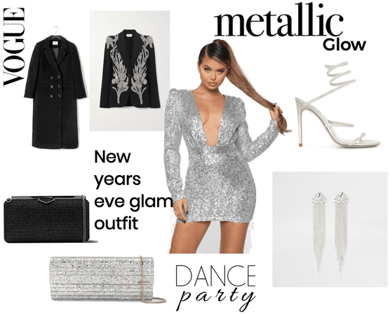 New Years eve glam outfit