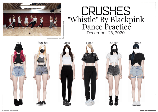 """Crushes (호감) """"Whistle"""" Cover Dance Practice"""