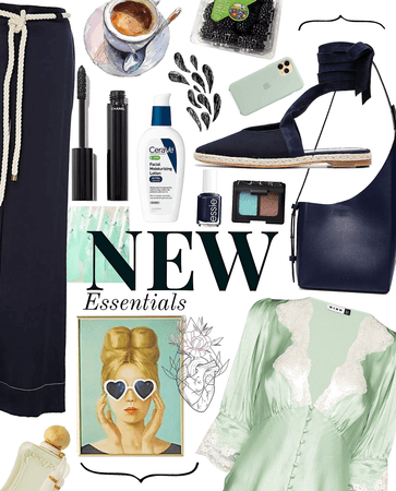 navy + mint essentials | @aafashion contest