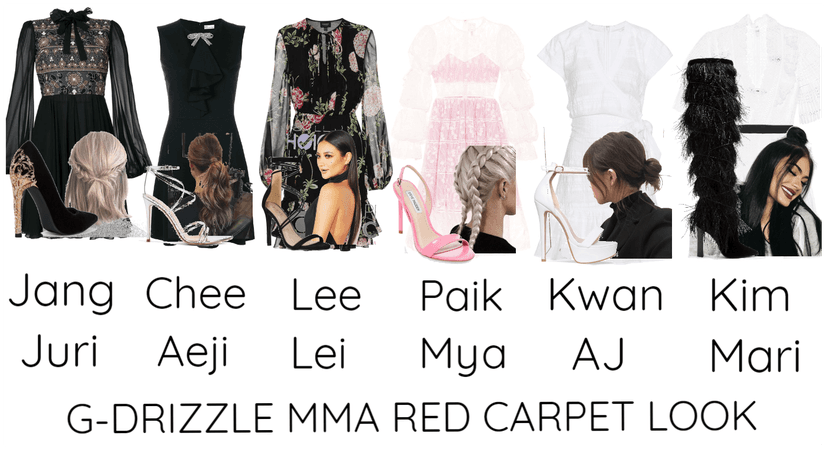 G-DRIZZLE MMA RED CARPET LOOK