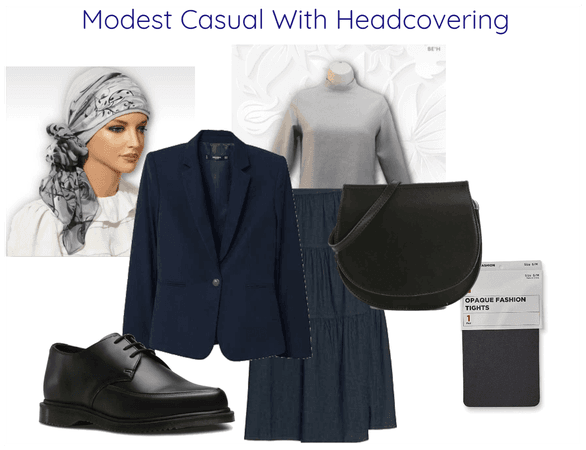 Modest Casual With Headcovering