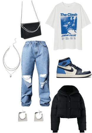 casual street wear (Blue)