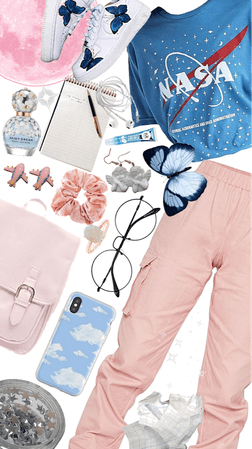 Blue and Pink Outfit