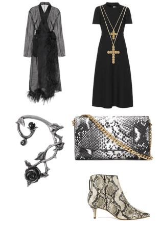 beautiful dark outfit