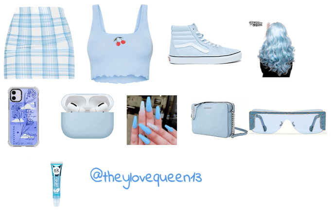 baby blue outfit
