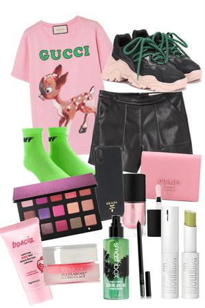 green x pink