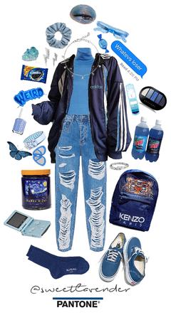 pantone blue aes