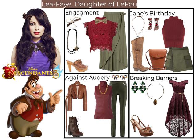 Lea-Faye. Daughter of LeFou. Descendants 3