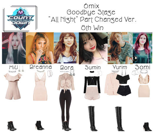 《6mix》MCountdown Goodbue Stage 'All Night'