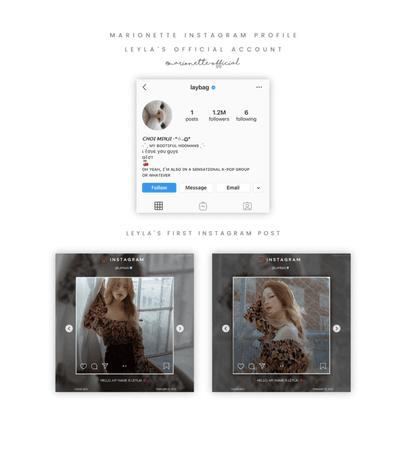 마리오네트 (𝗠𝗔𝗥𝗜𝗢𝗡𝗘𝗧𝗧𝗘) - [LEYLA] Official Instagram Account + Post