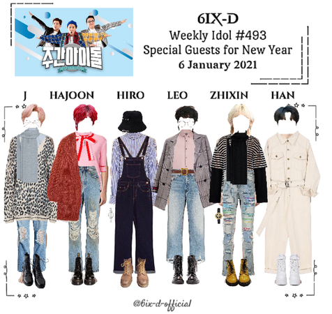6IX-D [씩스띠] Weekly Idol 210106