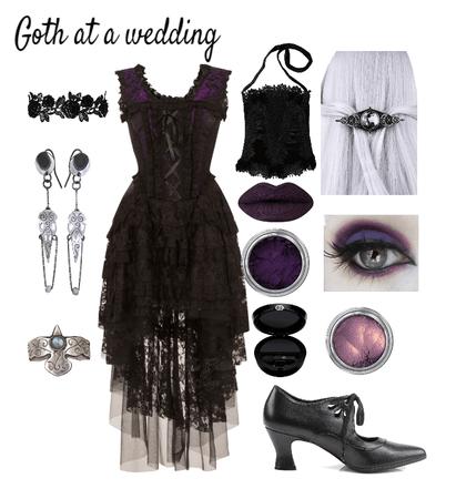 Goth at a wedding