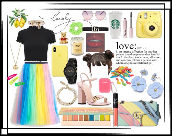 Rainbow Maxi Skirt