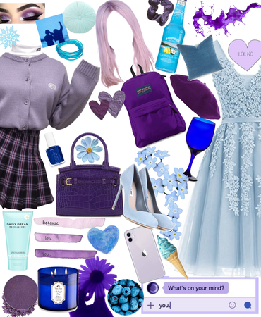 blue and purple chic