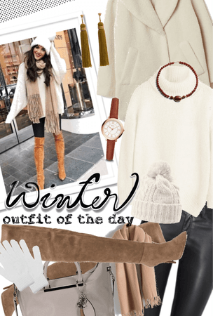 How To Look Cute In Winter White #OOTD