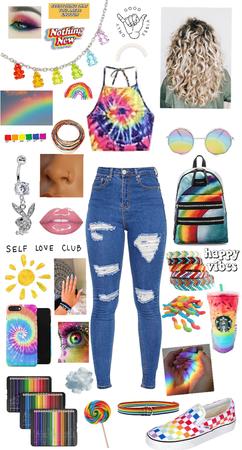 Rainbows as a teen girl