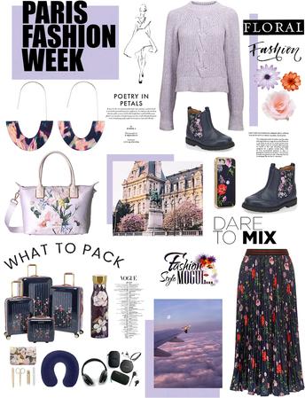 what 2 pack/ Paris fashion week/floral fashions