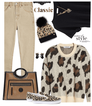 Casual leopard