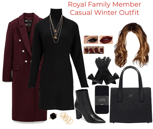 Royal Family Member  Casual Winter Outfit