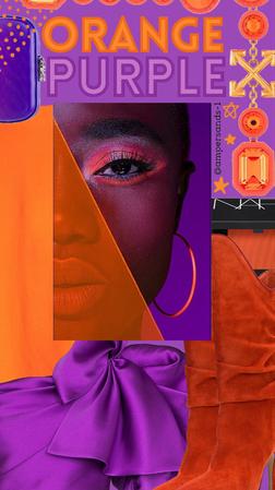 Orange & Purple