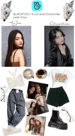 BL4CKFOX's Yujin and Choonhee cafe Vlive