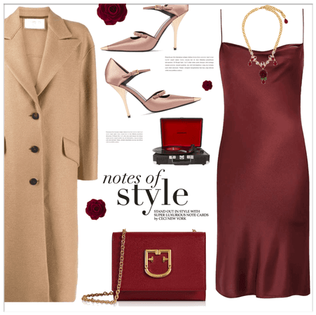 Red and Beige
