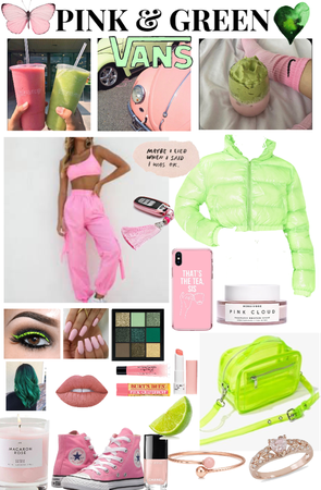 pink and green monochrome 💚💗