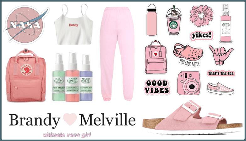 Pink Vsco Girl