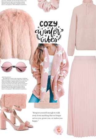 pink fuzzy cute outfit
