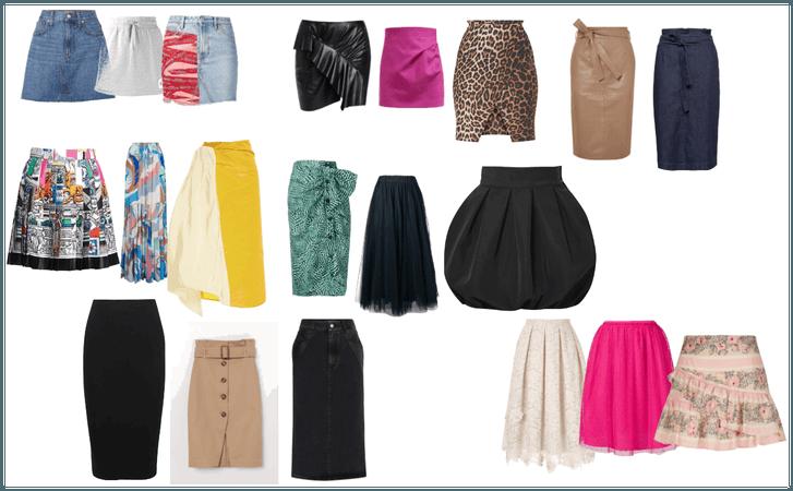 estilos de saia