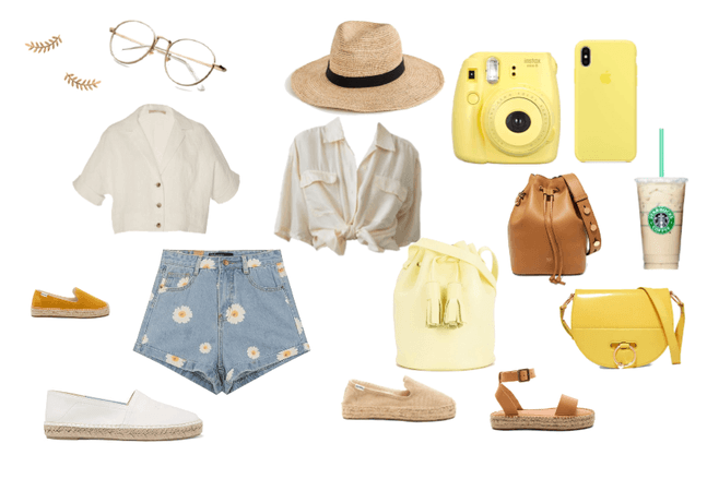 yellow outfit or coachella outfit