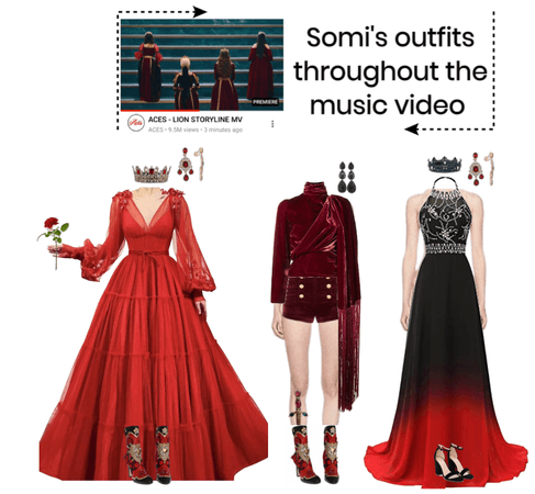 [SOMI] OUTFITS THROUGHOUT THE MV