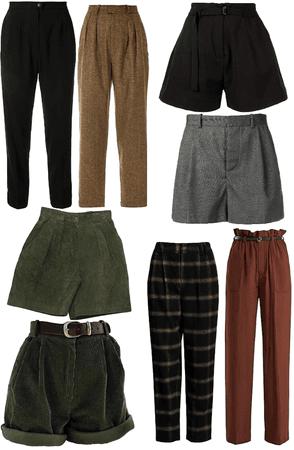 Dark Academia Dream Wardrobe Bottoms