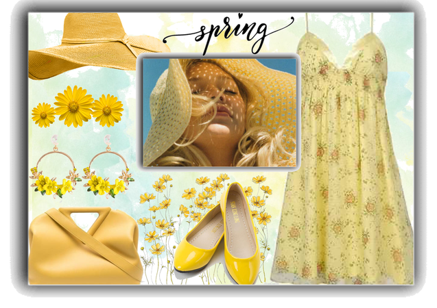 a yellow spring