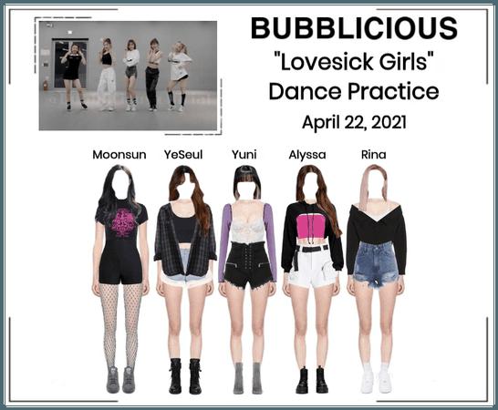 "BUBBLICIOUS (신기한) ""Lovesick Girls"" Dance Practice"