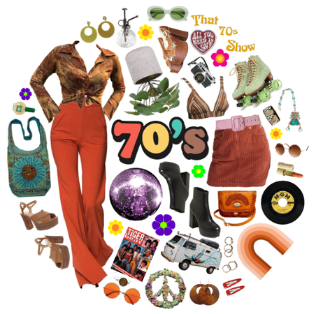 a far out 70's mood board