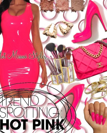 |For Pink Trend Challenge| Trending Hot Pink&Gold|
