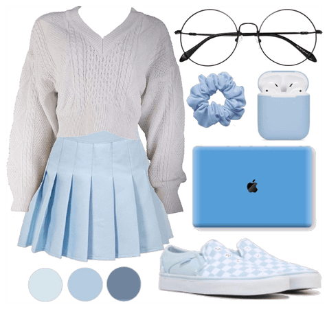 Cozy blue outfit