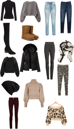 Winter clothing aesthetic