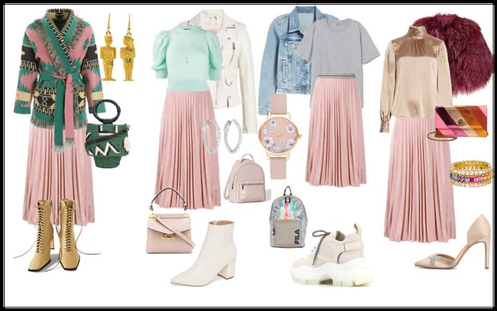 pleated skirt options