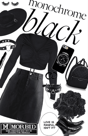 monochrome black/goth