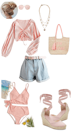 Pink Day Beach Day