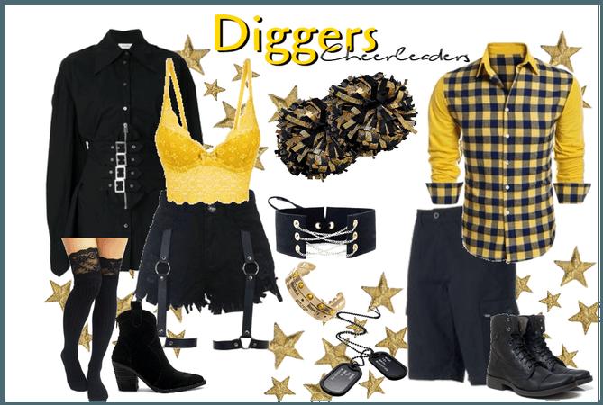 Diggers Cheerleaders - Uniform #3