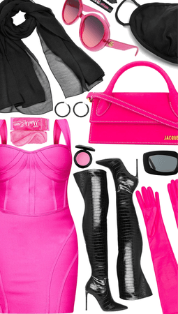 HOT PINK AMD BLACK STYLE💓💓💣💣💓💓