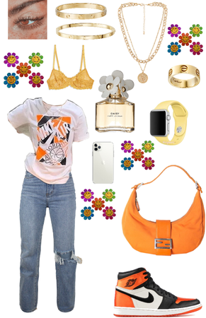 summer/spring outfit ( orange/yellow )